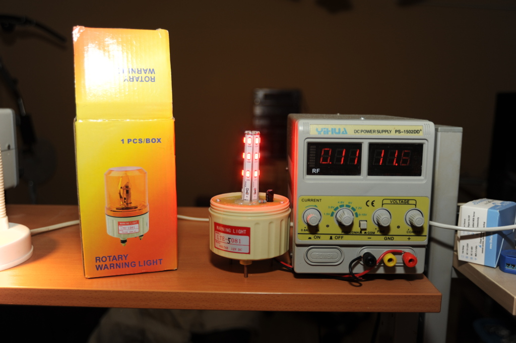 LEDs again: EBay rotary warning light is a fake