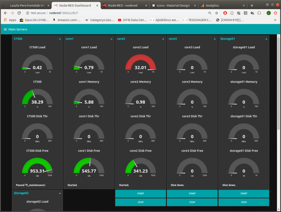 monitoring servers with node-red